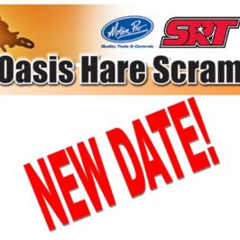 Oasis Hare Scramblers Rescheduled!