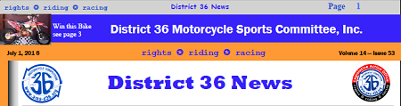 District 36 Newsletter Published