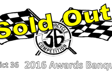 District 36 Awards Banquet Sold Out