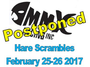 MMX Hare Scrambles Postponed!