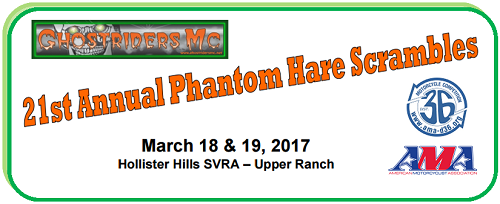 Phantom Hare Scrambles – March 18 – 19!