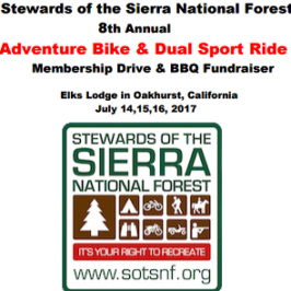 Stewards of the Sierra National Forest Dual Sport – July 14th-16th