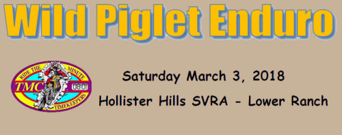 Wild Piglet Route Sheet Posted!