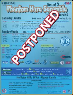 Phantom CC Postponed