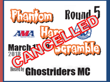 Phantom Hare Scrambles Cancelled for 2018